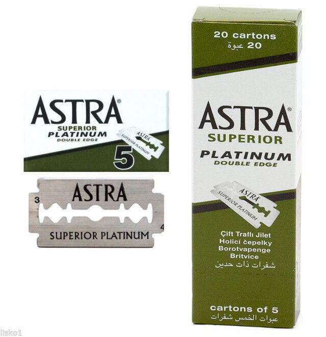 Лезвия Gillette Astra Superior Platinum
